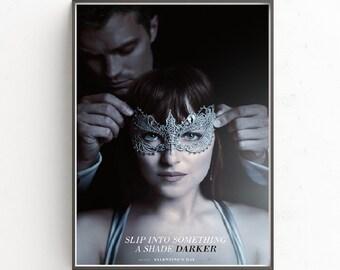 Fifty Shades Darker , Slip into something a shade Darker movie wallpaper decoration photo poster