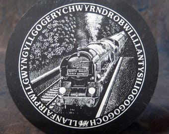 North Wales Coast Express Round Ceramic disk