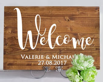 Wedding Sign, Wedding Decor, Wedding Signs, Wedding Signage, Wedding Reception Sign, Wood Wedding Sign, Personalized Wedding Sign