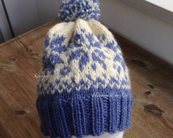 Hand-knitted wool CAP in the Norwegians look