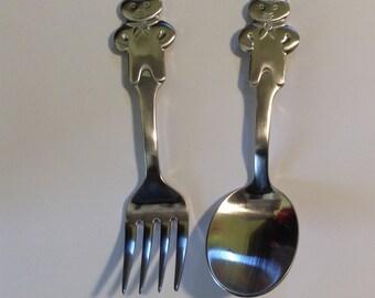 Pillsbury Doughboy Childrens Spoon & Fork Set