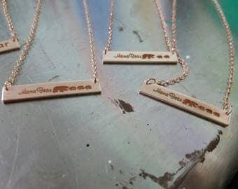 Mama Bear & Cubs Necklace