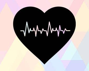 Heartbeat Heart SVG | Heartbeat Cricut | Heartbeat Line Svg | Heartbeat Heart Dxf | Heartbeat Svg | Heartbeat Cameo | Heartbeat Cut File