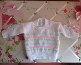 Baby Jumper Hand Knitting Pattern