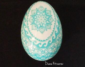 Deeply etched goose egg, goose pysanky, handmade gift ideas, pysanka, Ukrainian Easter Eggs, traditional design, pysanky eggs, egg art