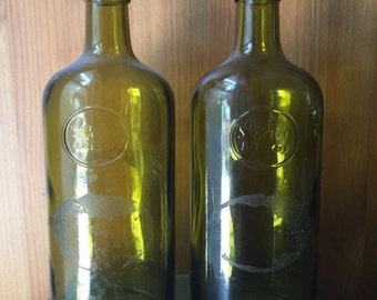 Vintage Green Glass Bottles St Peter Brewery
