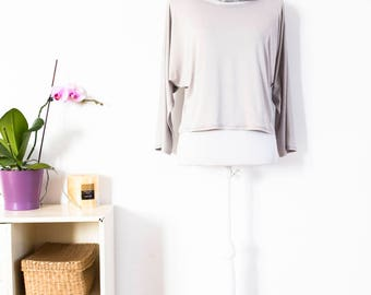 Light gray shirt oversized tee plus size blouse maternity sweater, large maternity blouse, casual maternity top, oversize gray shirt