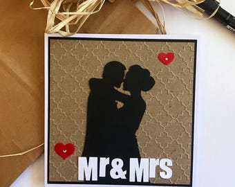 Mr and Mrs Wedding Card | Love Engagement Card | Wedding Card | Black and White Wedding Card | card for Her | carc for Him | Bride and groom