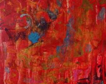Abstract artwork in red