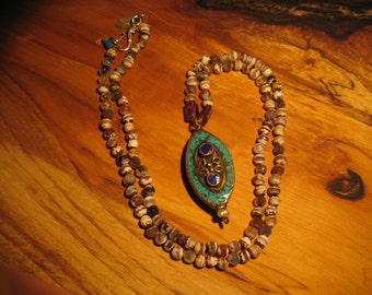 Tibetan Earth and Sky Necklace