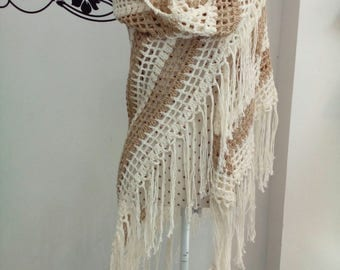 Crochet with /without fringed shawl