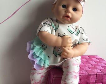 Hand made outfit for Baby Annabell, Chou Chou, Bayer Baby Piccolina or other doll till 46 cm (18 inch)