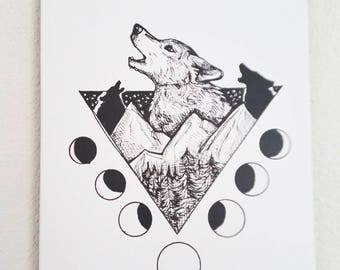Wolf Art, Wolf Canvas, Art Print