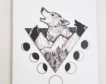 Wolf Art, Wolf Canvas, Art Print