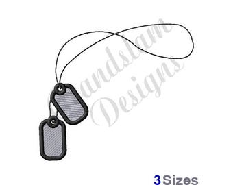 Dog Tags - Machine Embroidery Design