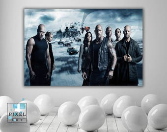 Fast And Furious Movie Canvas Print Wall Hanging Framed Art