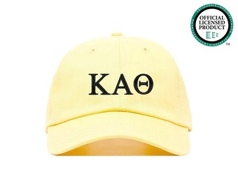 kappa alpha theta sorority baseball cap greek letter