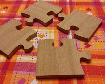 Wooden puzzle trivet