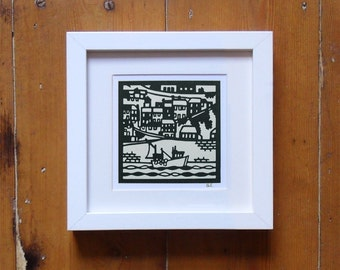 Fishing Boat in Mevagissey Harbour, Cornwall – Small Print Cornwall Print