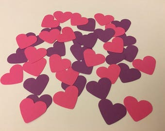 heart shaped confetti / 150 pieces / birthday party