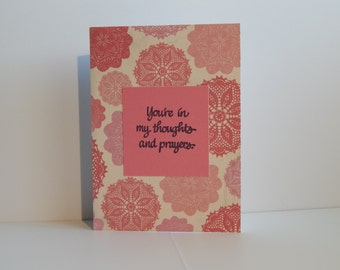 Thoughts and Prayers Card, Pink