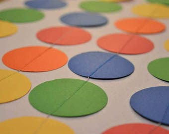 Multi-Colored Dot Garland