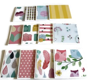 Assorted Mini Cards, Thank you Cards, Note cards, Gift Tags, Lunch Box Notes, 3x3 inch cards, Note Card Set, Set of 12