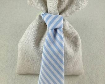 Set of 10 Baby shower favor Bag with tie necktie