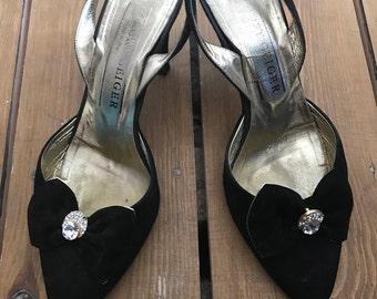 Vintage 90's Kurt Geiger Suede Slingback shoes