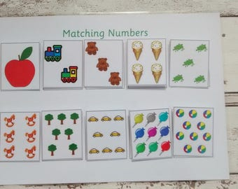 Matching numbers games, teaching number, educational resource, learn numbers to 10, fun game for children,number game for children