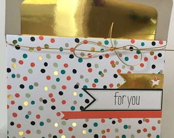 Just For You Card Poc a Dots