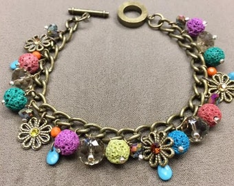Lava stone Diffuser Charm bracelet