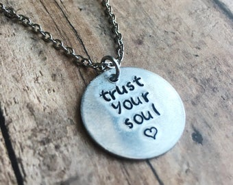Quote Necklace - Inspirational Jewelry - Inspirational necklace - Custom necklace - Personalized necklace - Mantra Jewelry - Affirmation