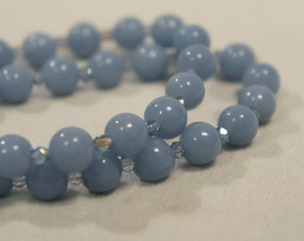 Genuine Angelite Bracelet Semi Precious Stone Gemstone Healing Crystal Chakra Metaphysical Gift