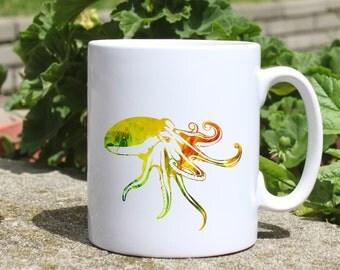 Octopus mug - Ocean mug - Colorful printed mug - Tee mug - Coffee Mug - Gift Idea