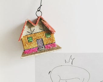 Wee Paper House Ornament