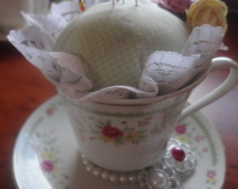 Tea Cup Pin Cushion.