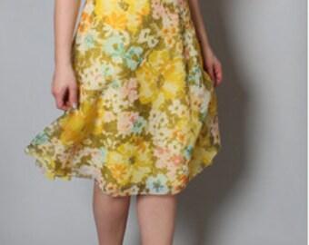 Vintage Spring Floral 1960s Summer dress
