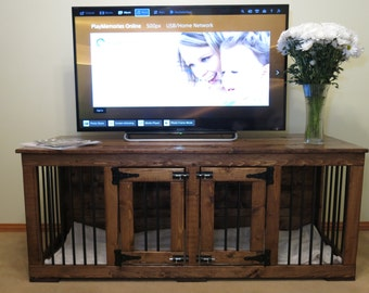TV Stand - Custom Handmade Kennel / Crate for Dogs