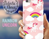 Unicorns  Rainbows pink iPhone 6s case iPhone 7 Plus case iPhone 6 case 5s 5c kawaii case