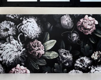Dark Flower Table - Vintage Table -  Seventies desk - Dark Flower Desk - Modernism Desk