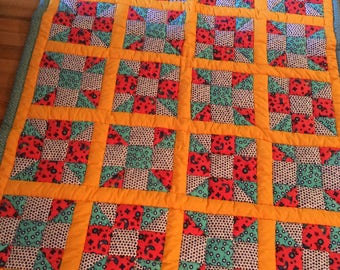 Vibrant Triple Play Quilt