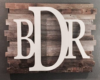 Rustic Wood Personalized Wall Art