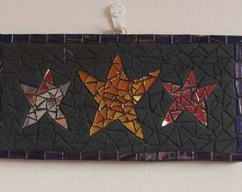 Mosaic Wall Art Stars Glass and Ceramic Mosaic