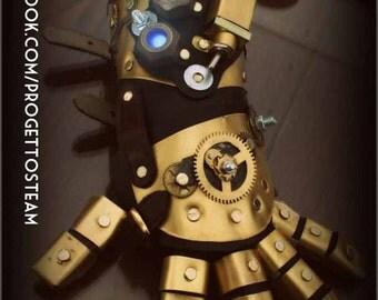 Steampunk armor gauntlet glove hand