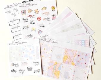 Rosé / One Month Kit - planner stickers happy planner erin condren