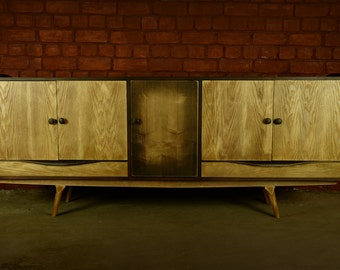 Mid Century Style Credenza/ Media Stand C010