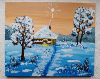 Acrylic box. Winter's tale