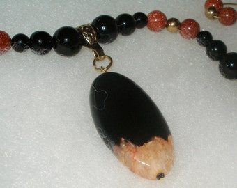JASPERDRAGON & RED GOLDSTONE Necklace and Earrings