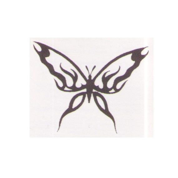 temporarytattoos tribal butterfly temporary tattoo design 2x2 inch. Black Bedroom Furniture Sets. Home Design Ideas